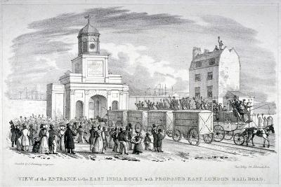 East India Docks, London, C1825-Vear-Giclee Print
