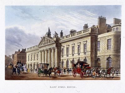 East India House, London, 1836-Joseph Constantine Stadler-Giclee Print