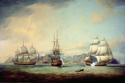 East Indiaman Ceres Off St Helena, 1788-Thomas Luny-Giclee Print