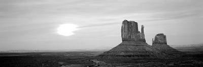 East Mitten and West Mitten Buttes at Sunset, Monument Valley, Utah, USA--Photographic Print