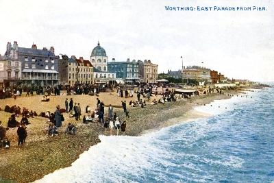 East Parade from the Pier, Worthing, Sussex, Early 20th Century--Giclee Print