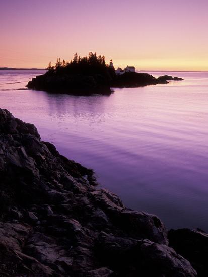 East Quoddy Lighthouse at Sunrise, Campobello Island, New Brunswick, Canada-Garry Black-Photographic Print