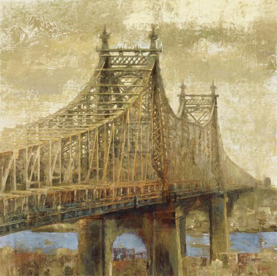 East River Bridge II-Michael Longo-Art Print