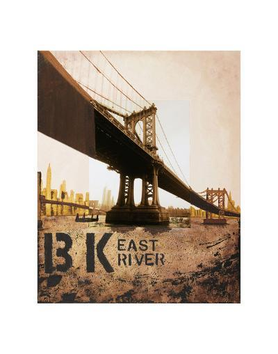 East River & Manhattan Bridge-Mauro Baiocco-Art Print