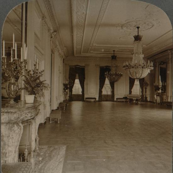 'East room where receptions are held, White House, Washington D.C.', c1900-Unknown-Photographic Print