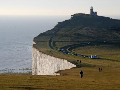 East Sussex, Beachy Head Is a Chalk Headland on South Coast of England, England-David Bank-Photographic Print