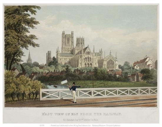 East View of Ely from the Railway--Art Print