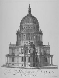 East View of St Paul's Cathedral, City of London, 1720