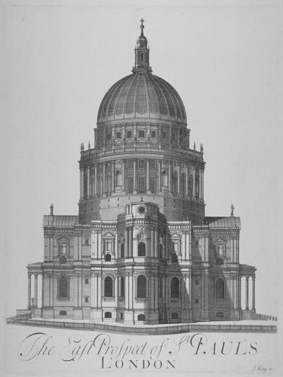East View of St Paul's Cathedral, City of London, 1720--Giclee Print
