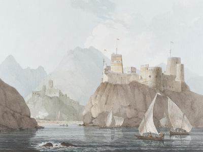 East View of the Forts Jellali and Merani, Muskah, Arabia, June 1793-Thomas Daniell-Giclee Print