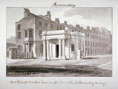 East View of the New Toll House Near St James' Church, Bermondsey, London, 1827-John Chessell Buckler-Giclee Print