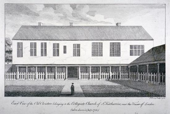 East View of the Old Cloisters at the Church of St Katherine by the Tower, Stepney, London, 1764-F Perry-Giclee Print