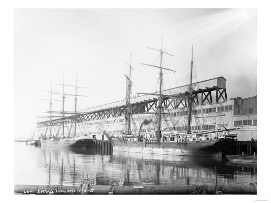 East Waterways Terminals Photograph - Seattle, WA-Lantern Press-Art Print