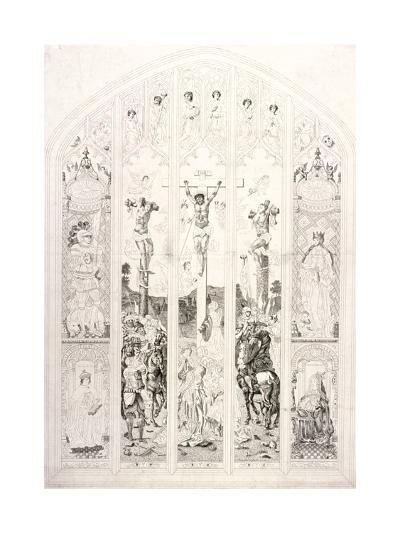 East Window in St Margaret, Westminster, Depicting the Crucifixion, London, 1787-John Wright-Giclee Print
