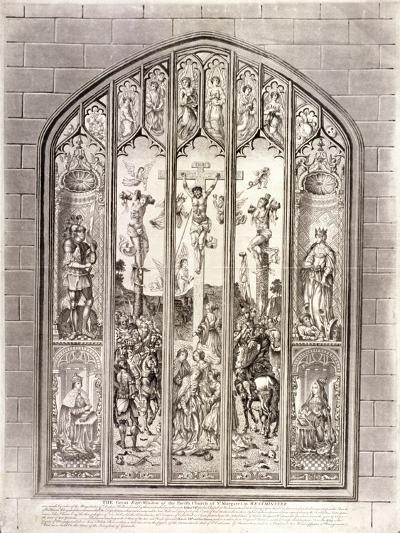 East Window in St Margaret, Westminster, Depicting the Crucifixion, London, 1800--Giclee Print