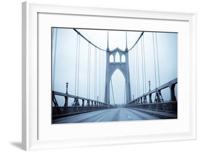 Eastbound on the Bridge II-Erin Berzel-Framed Photographic Print