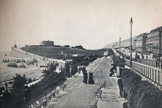 'Eastbourne - Part of the Promenade, Showing Wish Tower', 1895-Unknown-Photographic Print