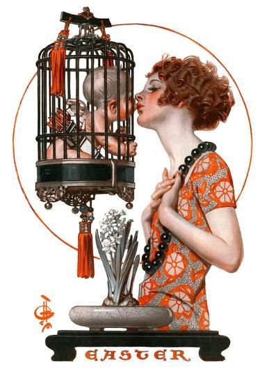 """Easter, 1923,""March 31, 1923-Joseph Christian Leyendecker-Giclee Print"
