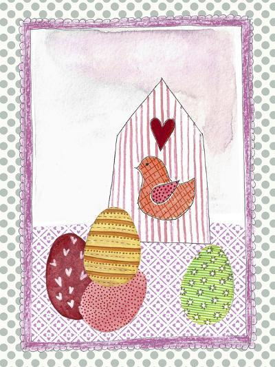 Easter Birdhouse and Eggs-Effie Zafiropoulou-Giclee Print