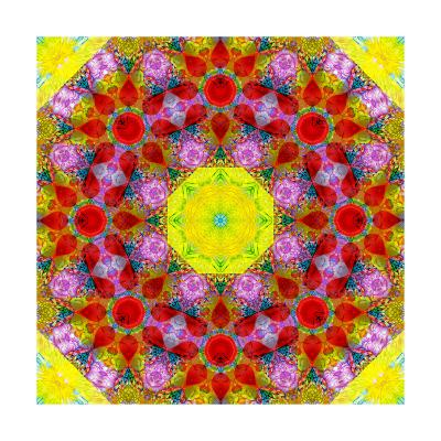 Easter Blossom Mandala I-Alaya Gadeh-Art Print
