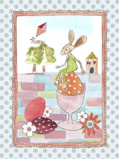 Easter Bunny on Egg-Effie Zafiropoulou-Giclee Print