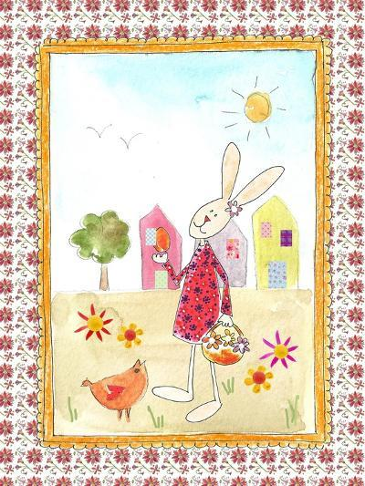 Easter Bunny with Egg-Effie Zafiropoulou-Giclee Print