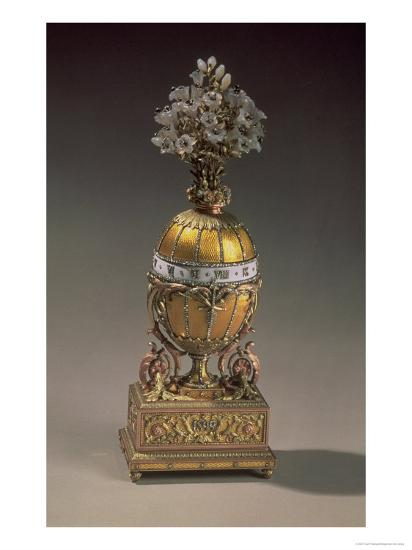 Easter Egg In The Form Of A Vase Containing Flowers 1899 Metal