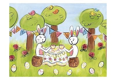 Easter Egg Tea-Erin Butson-Art Print