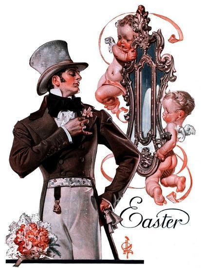 """Easter Finery,""April 11, 1925-Joseph Christian Leyendecker-Giclee Print"