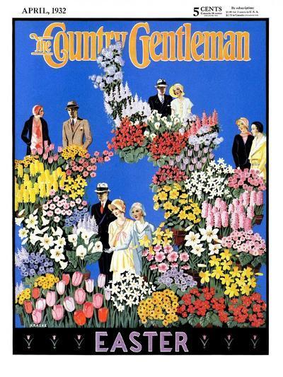 """Easter Flowers,"" Country Gentleman Cover, April 1, 1932- Kraske-Giclee Print"
