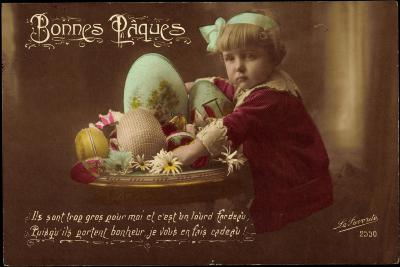 Easter Greetings Card--Giclee Print