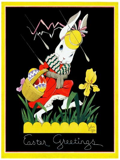 Easter Greetings - Child Life-John Gee-Giclee Print