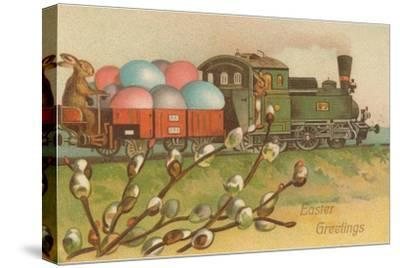 Easter Greetings, Locomotive with Eggs