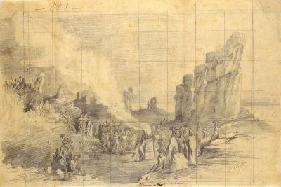 Easter Island, Religious Festival, 1872-Louis Marie Julien Viaud-Giclee Print