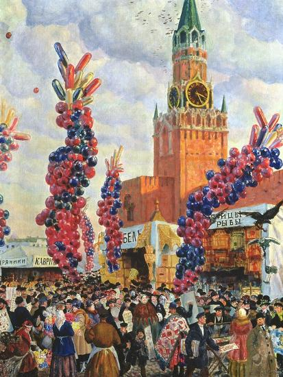 Easter Market at the Moscow Kremlin, 1917-B^ M^ Kustodiev-Giclee Print