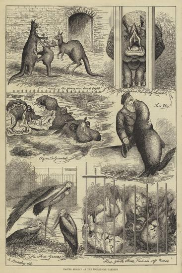 Easter Monday at the Zoological Gardens-Stanley Berkeley-Giclee Print