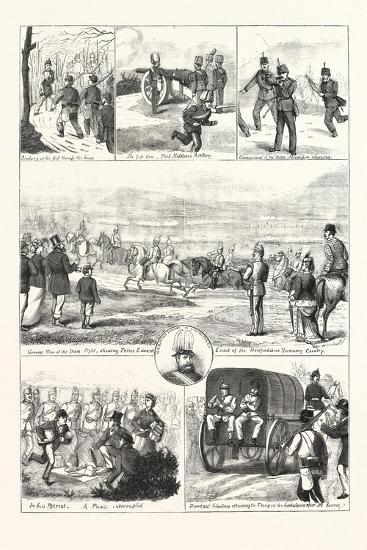 Easter Monday with the Volunteers at Tring, 1876, UK--Giclee Print