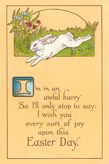 Easter Poem with Bunny--Art Print