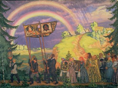 Easter Procession, 1915-Boris Kustodiyev-Giclee Print
