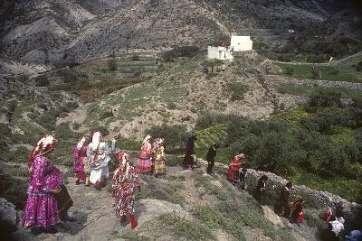 Easter Procession, Olymbos, Karpathos, Greece--Photographic Print