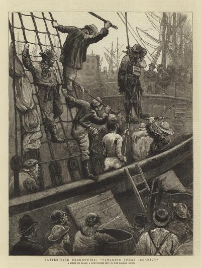 Easter-Tide Ceremonies, Flogging Judas Iscariot-William Bazett Murray-Giclee Print