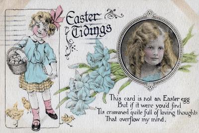 Easter Tidings, Greetings Card, C1923--Giclee Print