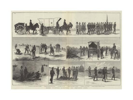 Easter Volunteer Manoeuvres, the Ambulance Corps--Giclee Print