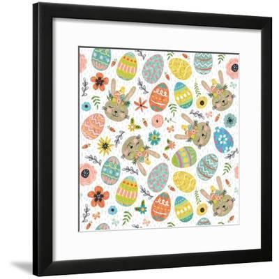 Easter Wishes Pattern I-ND Art-Framed Art Print