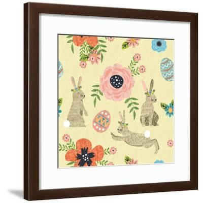 Easter Wishes Pattern II-ND Art-Framed Art Print