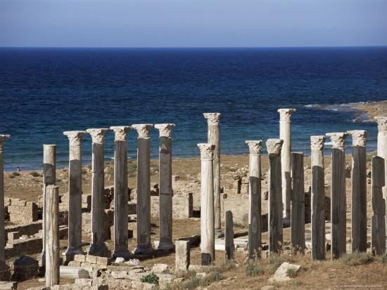 Eastern Basilica, Apollonia, Cyrenaica, Libya, North Africa, Africa-Nico Tondini-Photographic Print