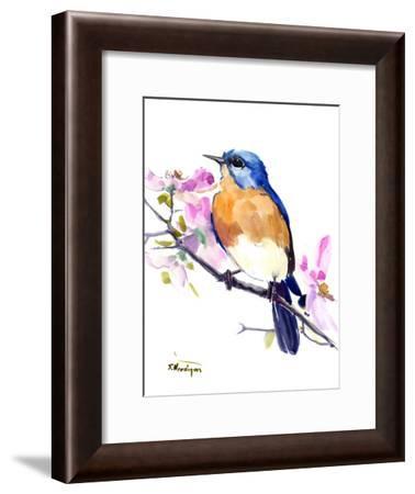 Eastern Bluebird 3-Suren Nersisyan-Framed Art Print