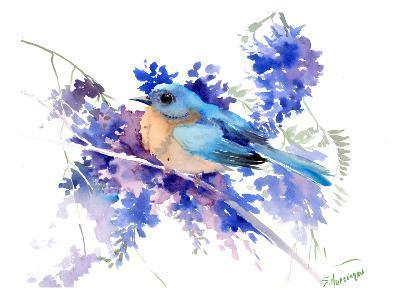 Eastern Bluebird-Suren Nersisyan-Art Print