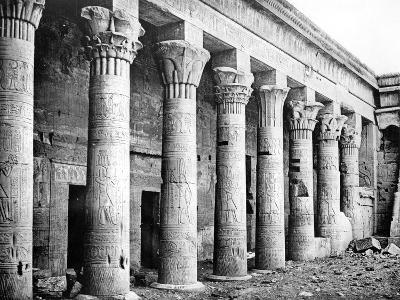 Eastern Columns, Temple of Isis, Philae, Nubia, Egypt, 1887-Henri Bechard-Giclee Print