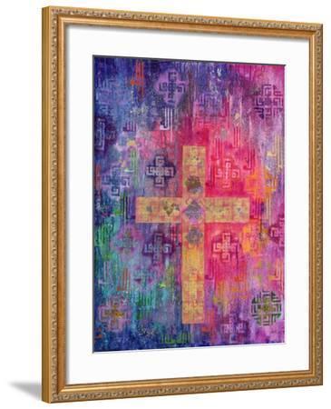 Eastern Cross, 2000-Laila Shawa-Framed Giclee Print